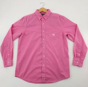 Chaps | Pink White Lightweight Easy Care Size M